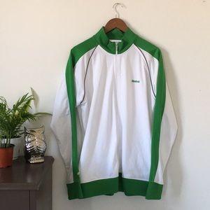 2/$15 Reebok NHLPA White XL Zipper Sweater